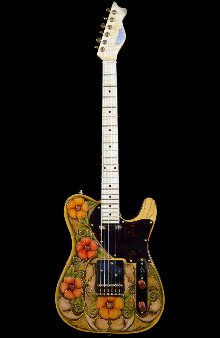 RH Custom Guitar Shop Floral Perfection
