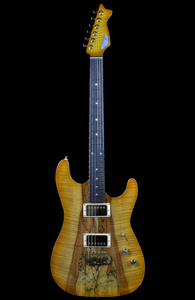 Spalted Flame RH Custom Guitar 1