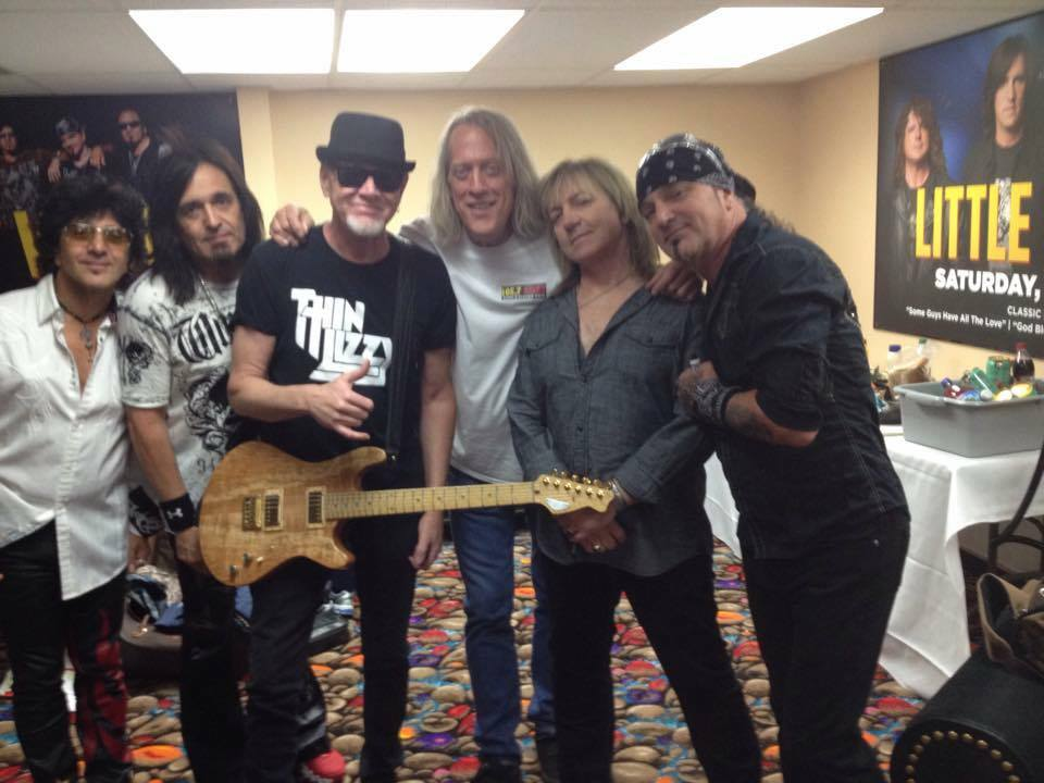 Mark Kendall, gives a thumbs up for RH Custom Guitars.